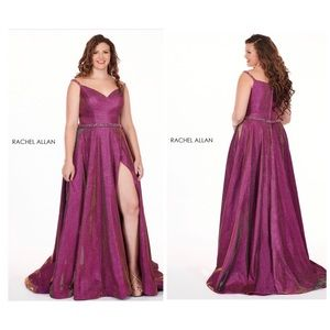 Rachel Allan long formal COLOR: MAGENTA GOLD